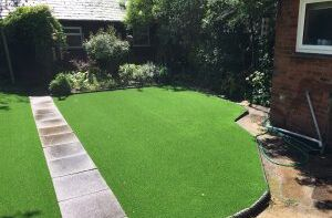 artificial grass with path