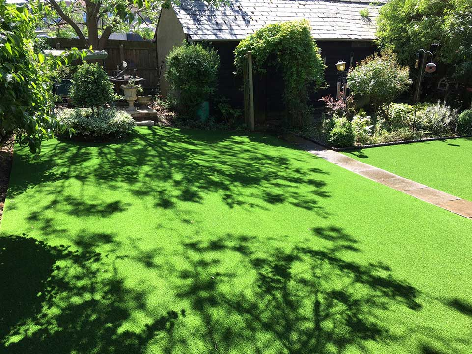 Artificial grass and trees